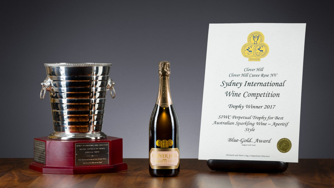 Clover Hill Cuvée Rosé wins the Perpetual Trophy
