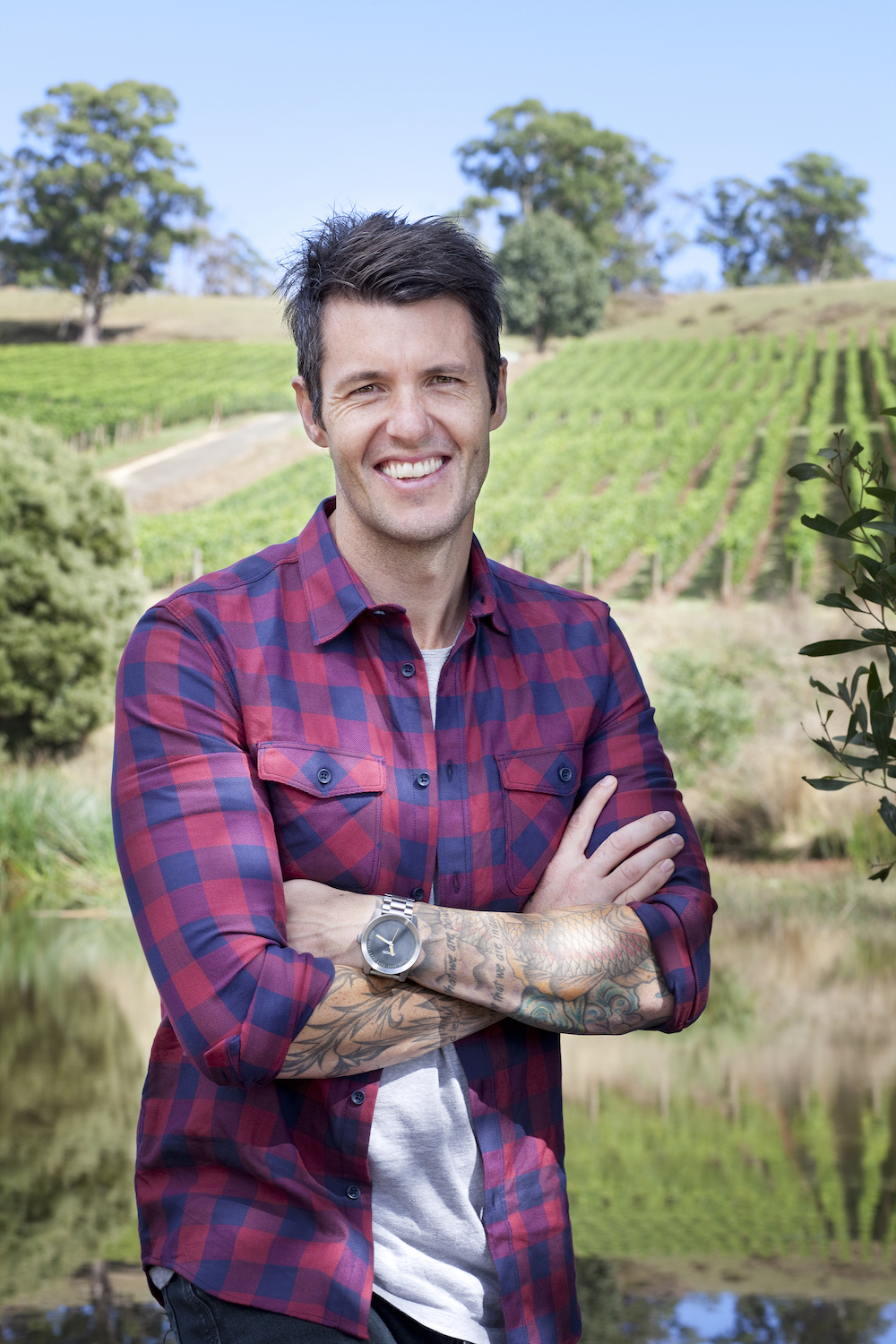 Ben Milbourne Tasmanian Celebrity Chef at Clover Hill Vineyard