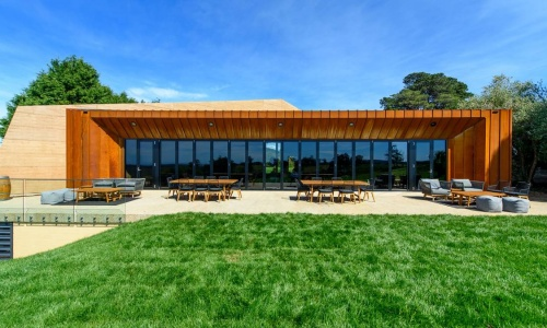 Clover Hill Cellar Door Tasmania - Deck Back View - Photo by The Examiner Tasmania