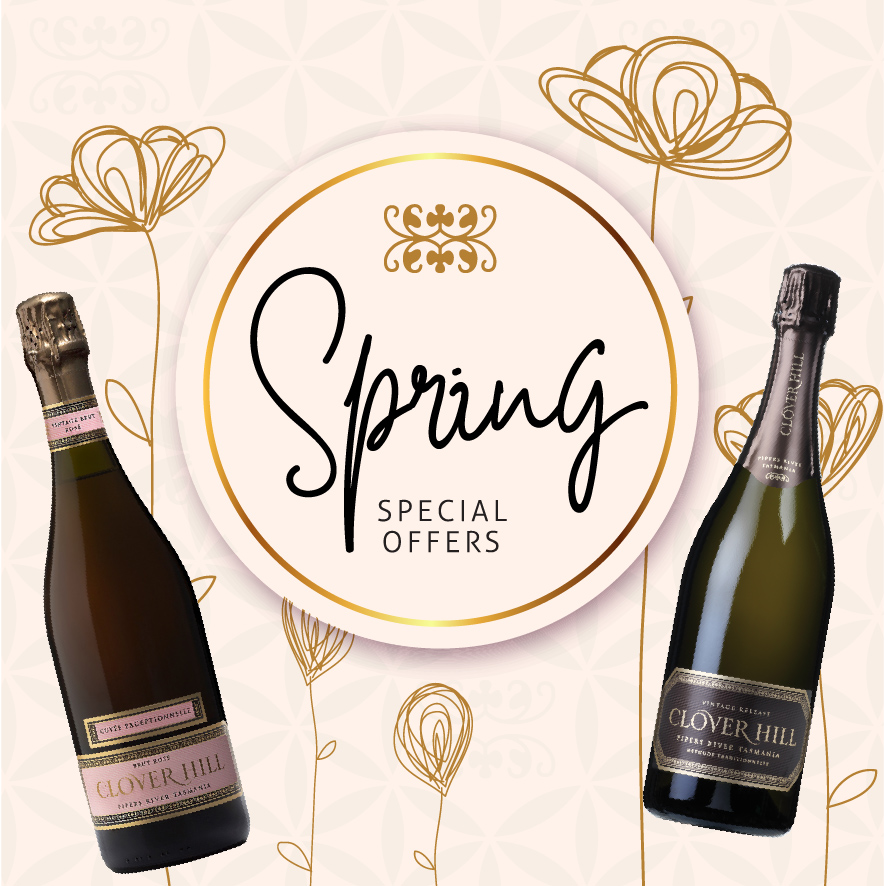 To help you celebrate the warmer weather and festive season we have put together Spring Sparkling Wine offers from Clover Hill Wines, Tasmania.